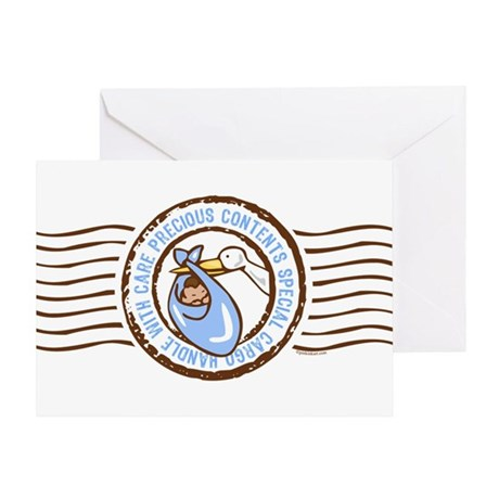 Precious Contents Stamp Blue Greeting Card