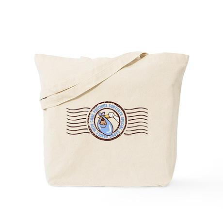 Precious Contents Stamp Blue Tote Bag