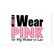 I Wear Pink MIL Postcards (Package of 8)