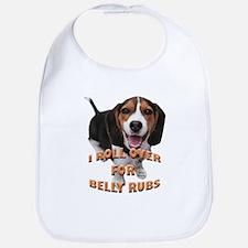 beagle belly rub Bib