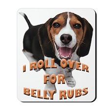 beagle belly rub Mousepad