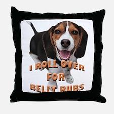 beagle belly rub Throw Pillow