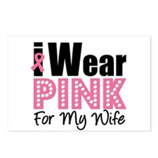 I Wear Pink For My Wife Postcards (Package of 8)