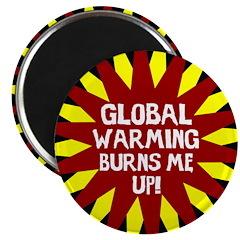 Burning Global Warming Magnet