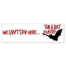 Bat Country Bumper Car Sticker