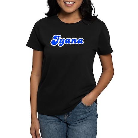 Retro Iyana (Blue) Women's Dark T-Shirt