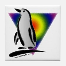 Abstract Gay Pride Penguin Tile Coaster