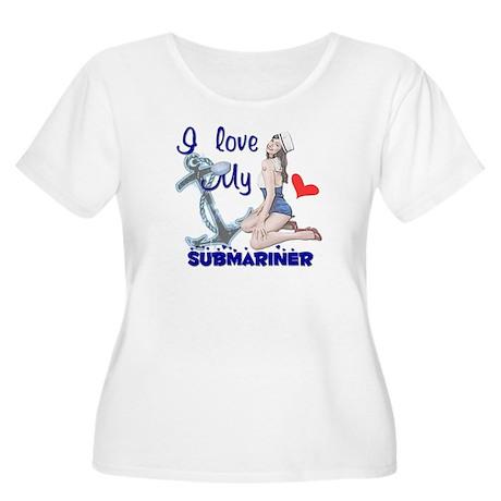 Love my Submariner Women's Plus Size Scoop Neck T-