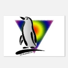 Abstract Gay Pride Penguin Postcards (Package of 8