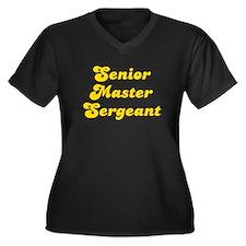 Retro Senior Mast.. (Gold) Women's Plus Size V-Nec