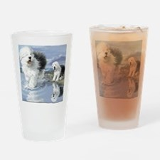 Old English Sheepdo... Drinking Glass