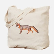 Gray Fox Animal Lover Tote Bag
