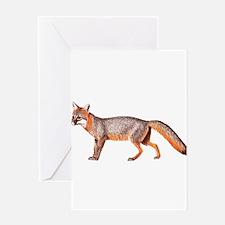 Gray Fox Animal Lover Greeting Card