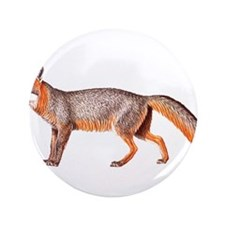 """Gray Fox Animal Lover 3.5"""" Button"""