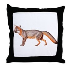 Gray Fox Animal Lover Throw Pillow