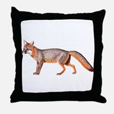Gray Fox Animal Lover Throw Pillow