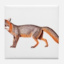 Gray Fox Animal Lover Tile Coaster