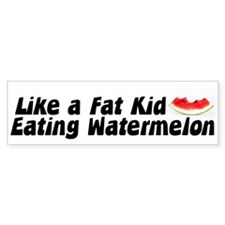 Eating Watermelon Bumper Bumper Sticker