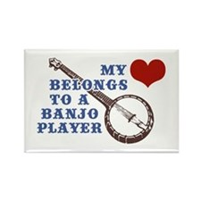 My Heart Belongs to a Banjo Player Rectangle Magne