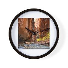 Cute Zion national park Wall Clock