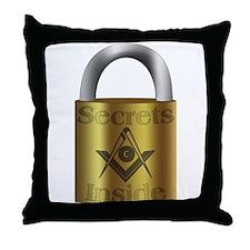 Masonic Secrets Throw Pillow