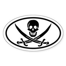 Calico Jack Oval Decal