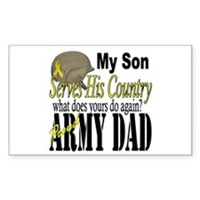 Army Son Serves Rectangle Decal