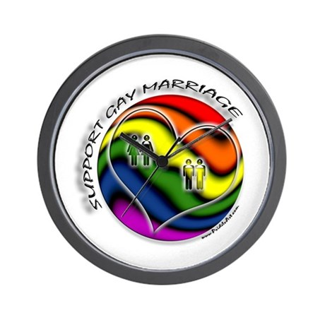 Support Gay Marriage Sphere Wall Clock