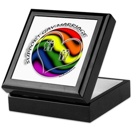 Support Gay Marriage Sphere Keepsake Box