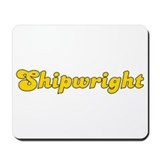 Retro Shipwright (Gold) Mousepad