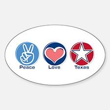 Peace Love Texas (star) Oval Decal