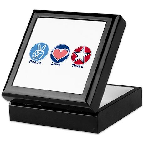 Peace Love Texas (star) Keepsake Box