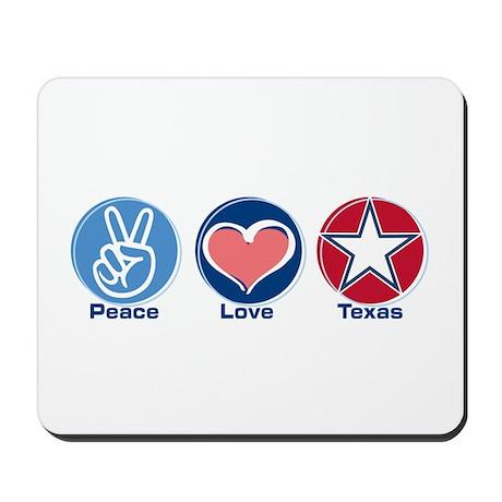 Peace Love Texas (star) Mousepad