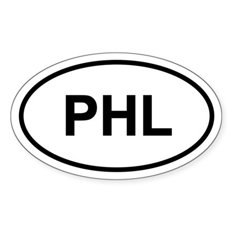 PHL Oval Sticker