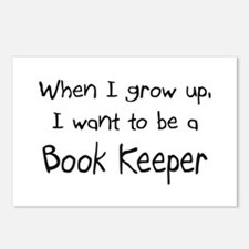 When I grow up I want to be a Book Keeper Postcard