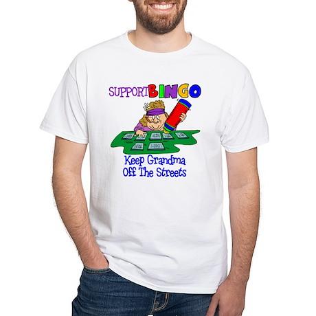 Support Bingo White T-Shirt