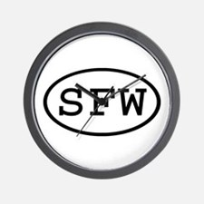 SFW Oval Wall Clock