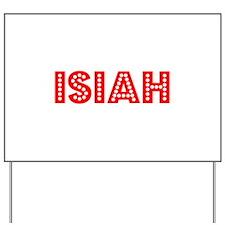 Retro Isiah (Red) Yard Sign