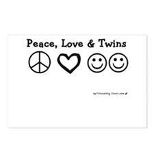Peace, Love & Twins Postcards (Package of 8)