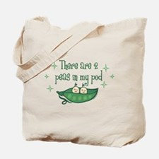 Pea In My Pod Twins Tote Bag
