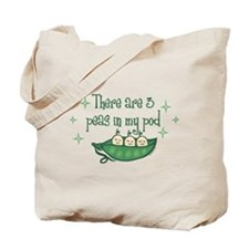 Pea In My Pod Triplets Tote Bag