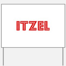 Retro Itzel (Red) Yard Sign