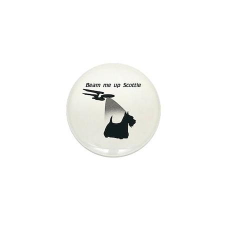Beam Me Up Scottie Mini Button