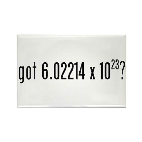 got Avogadro's Number? Rectangle Magnet