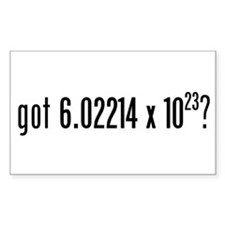got Avogadro's Number? Rectangle Decal