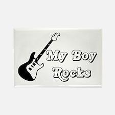 My Boy Rocks Rectangle Magnet