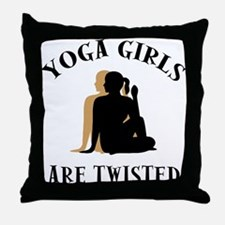 Yoga Girls Get Twisted Throw Pillow