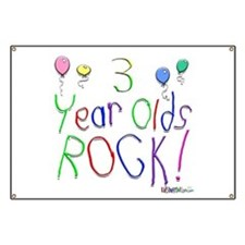3 Year Olds Rock ! Banner