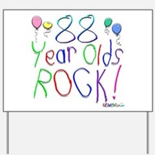 88 Year Olds Rock ! Yard Sign