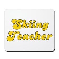 Retro Skiing Teac.. (Gold) Mousepad